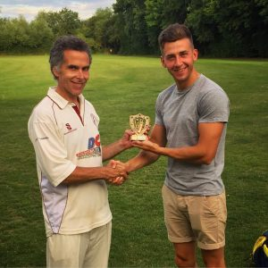 Sunday skipper Oscar Holmes belatedly awarded Digby Russell with his Captain's Player of the Year 2016. Well deserved!